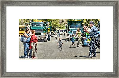 Police Shooting Pictures Framed Print