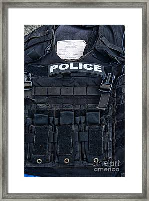 Police - The Tactical Vest Framed Print