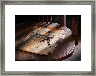 Police - The Wardens Keys Framed Print