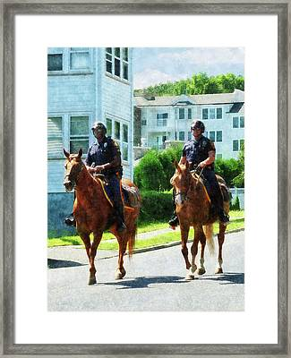 Police - Two Mounted Police Framed Print by Susan Savad