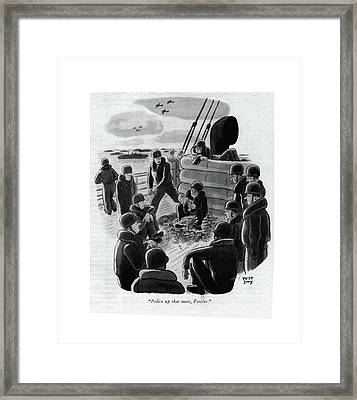 Police Up That Mess Framed Print by Robert J. Day