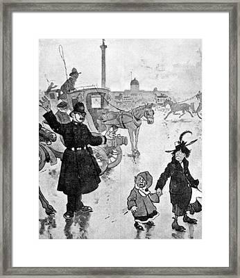 Policeman Cartoon, 1904 Framed Print by Granger