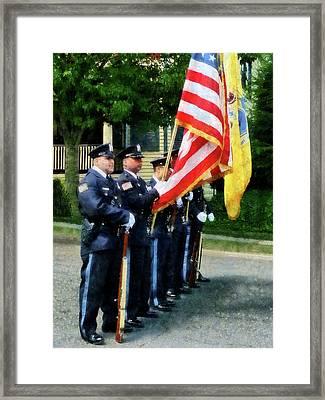 Policeman - Police Color Guard Framed Print