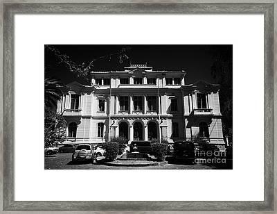 policia de investigaciones de chile pdi Santiago Chile Framed Print by Joe Fox