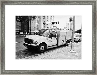 policia federal argentina bomberos federal police fire vehicle Buenos Aires Argentina Framed Print by Joe Fox