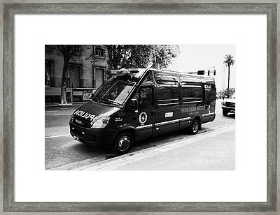 policia federal argentina federal police riot control doucad vehicle Buenos Aires Argentina Framed Print by Joe Fox