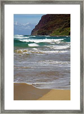 Polihale Beach And State Park Located Framed Print by David R. Frazier
