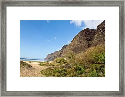 Polihale Beach Framed Print by Scott Pellegrin