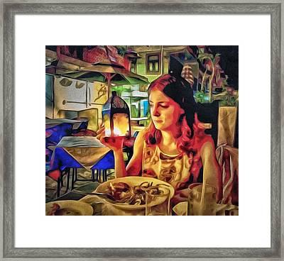 Polina At Lamma Island Framed Print by Yury Malkov