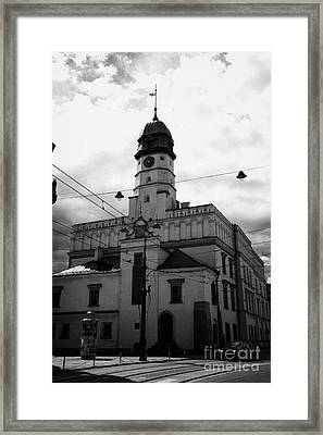 Polish Ethnographic Ethnography Museum Krakow Former 15th Century Town Hall And 16th Century Renaissance Building Framed Print by Joe Fox