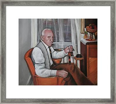 Framed Print featuring the painting Polish Grandfather by Melinda Saminski