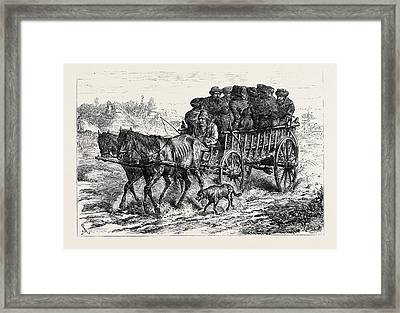 Polish Jews Driving To Market On The Polish Russian Framed Print by English School