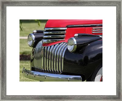 Polished Chrome Grill Framed Print
