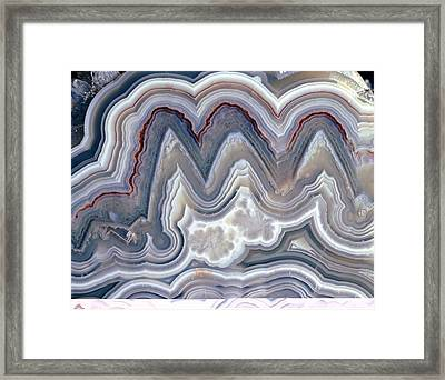 Polished 'crazy Lace' Agate Framed Print