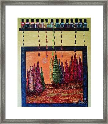 Polished Forest Framed Print