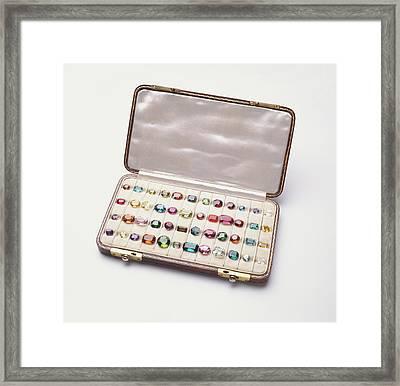 Polished Gemstones Framed Print by Dorling Kindersley/uig
