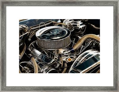 Polished Power Fractal Framed Print by Ricky Barnard