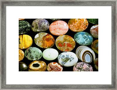 Polished Stones Framed Print