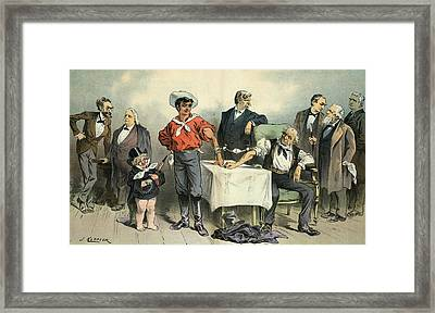 Political Blood Transfusion, 19th Framed Print by Science Photo Library