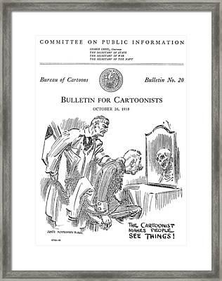 Political Cartoonist, 1918 Framed Print by Granger
