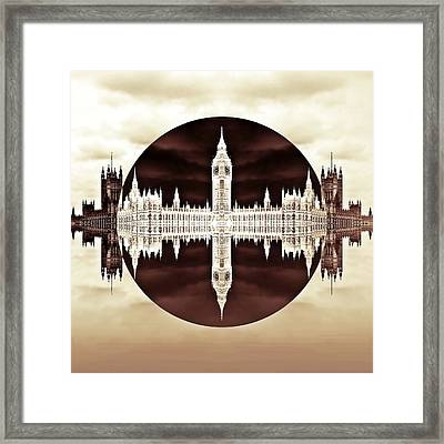 Political Circles Framed Print by Sharon Lisa Clarke