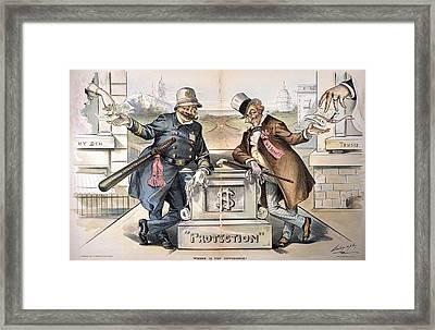 Political Corruption, 1894 Framed Print by Granger