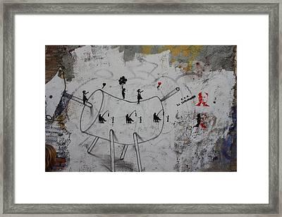 Political Fisherman Framed Print by Jan Katuin