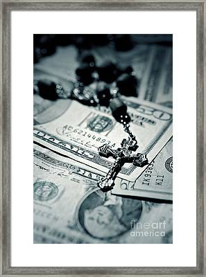 Politics Religion And Money 2 Framed Print by Trish Mistric