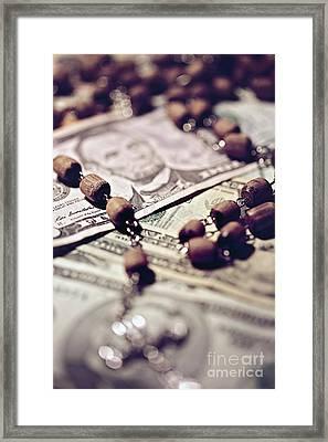 Politics  Religion And Money  Framed Print by Trish Mistric
