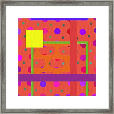 Polka Dot Abstract  Framed Print by L Wright