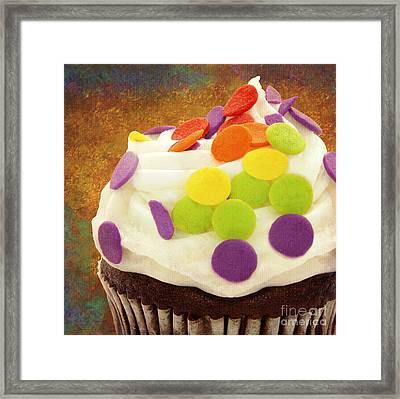 Polka Dot Cupcake 3 Square Framed Print