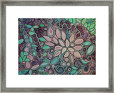 Polka Dot Flowers Framed Print by Barbara St Jean