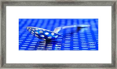 Polka Dot Spoon 2 Framed Print