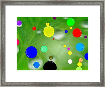 Polka Dots 1a Framed Print by Bruce Iorio
