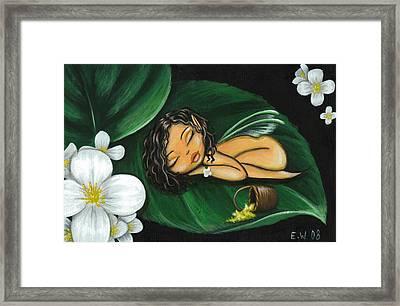 Pollen Pixie Framed Print by Elaina  Wagner