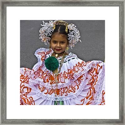 Pollera Costume Framed Print