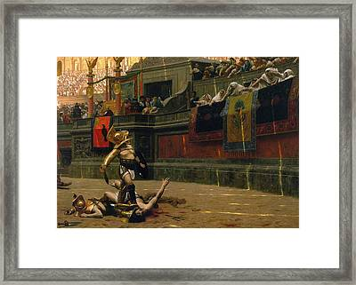 Pollice Verso Framed Print by War Is Hell Store