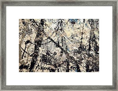 Pollock's Name On Lavendar Mist Framed Print