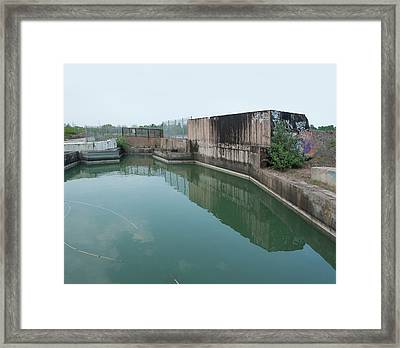 Polluted Industrial Site Framed Print by Robert Brook