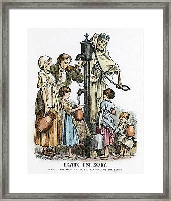 Pollution Cartoon, 1866 Framed Print