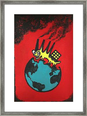 Pollution Framed Print by Leon Zernitsky