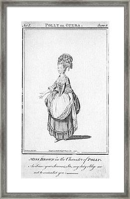 'polly' By John Gay - Miss Brown Framed Print by Mary Evans Picture Library