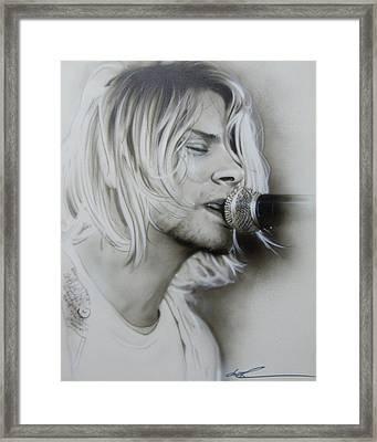 Kurt Cobain - ' Polly ' Framed Print by Christian Chapman Art