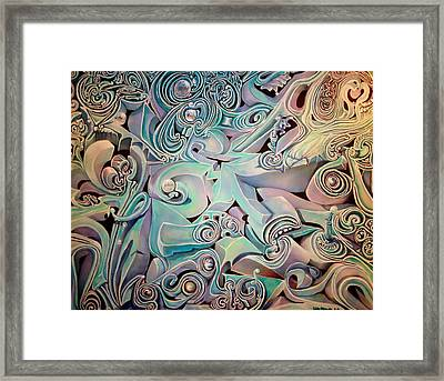 Framed Print featuring the painting Pollywog by Steven Holder