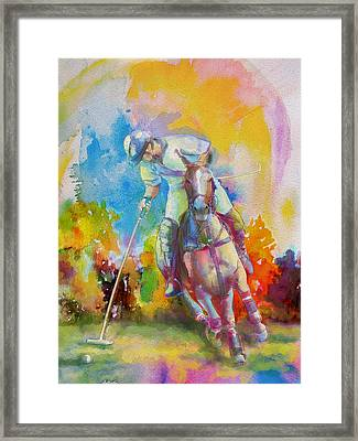 Polo Art Framed Print