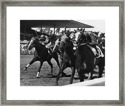 Polo Boreal Horse Racing Vintage Framed Print by Retro Images Archive