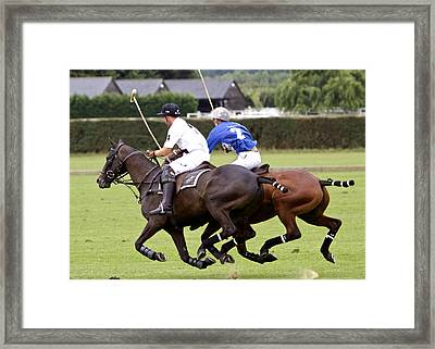 Polo Match In Argentina Framed Print