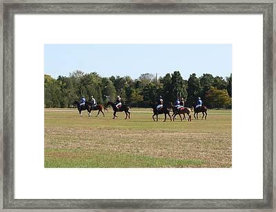 Polo Match Framed Print by Karen Silvestri