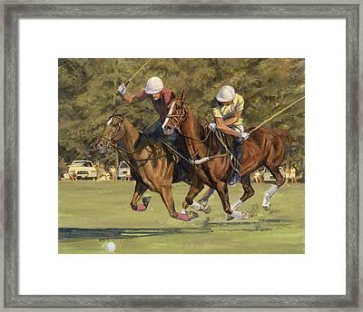 Polo Match Framed Print