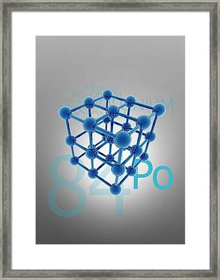 Polonium Atomic Structure Framed Print